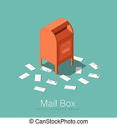 Isometric mail box