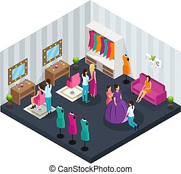 Isometric Makeup Room Concept