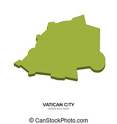Isometric map of Vatican City detailed vector illustration