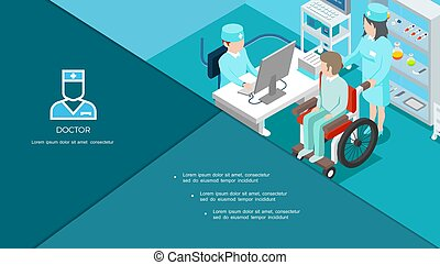 Isometric Medical Center Composition