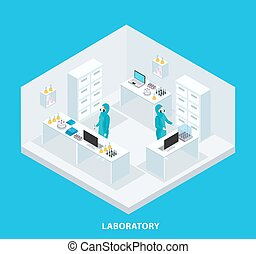 Isometric Medical Research Concept