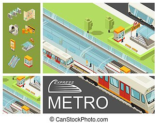 Isometric Metro Colorful Composition