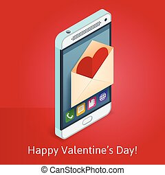 phone with love letter