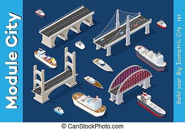 Isometric models of ships