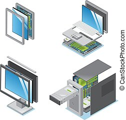 Isometric Modern Devices And Gadgets Set