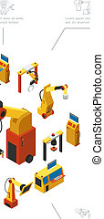 Isometric Modern Industrial Production Composition