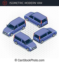 Isometric modern van