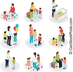 Isometric Nanny Work Set - Isometric nanny work set with...