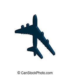 Isometric of airplane flight vector icon. Illustrator.