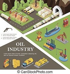 Isometric Oil Industry Concept