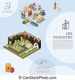 Isometric Oil Industry Template