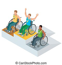 Isometric Olympic sports for peoples with disabled activity....