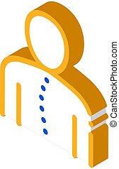 isometric, ortopedisk, ikon, krökning, kolonn, ryggrads