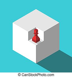 Isometric pawn in niche