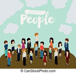 isometric people design