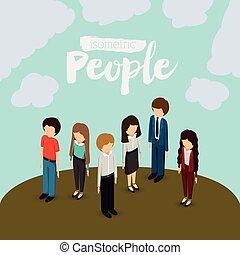 isometric people design