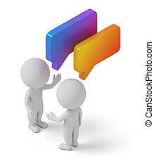 isometric people - dialog - Isometric people with chat...