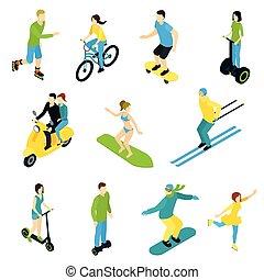 Isometric People Ride Set