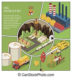 Isometric Petroleum Industry Composition