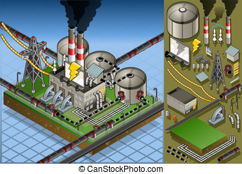 isometric petroleum plant in production of energy - Detailed...
