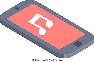 Isometric phone illustration flat design.