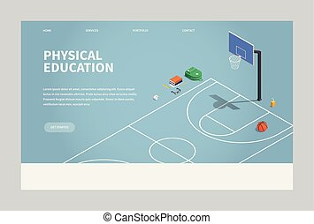 Isometric Physical Education Illustration