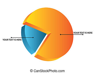 isometric pie chart