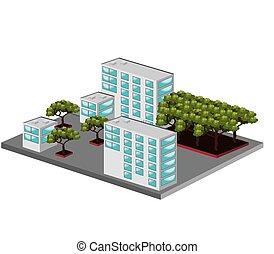 isometric place design - isometric place design, vector...