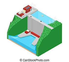 Isometric Plant Factory Power Station