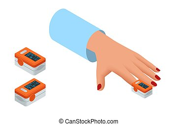 Isometric Portable Pulse Oximetry, Pulse Oximeter Fingertip...