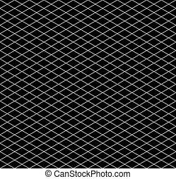 isometric, próbka, seamless, ruszt, czarnoskóry, biały
