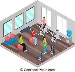 Isometric Pregnancy And Fitness Concept