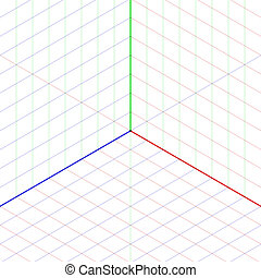 Isometric projection background illustration