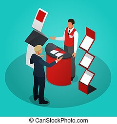 Isometric promotional stands or exhibition stands including...