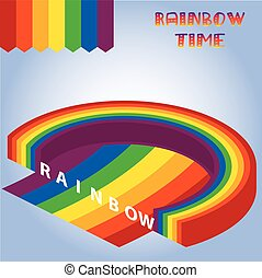 isometric rainbow background vector.