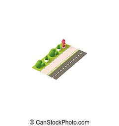 Isometric right view fire hydrant - Stock vector...