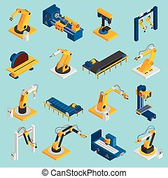 Isometric Robot Machinery - Isometric robot machinery remote...