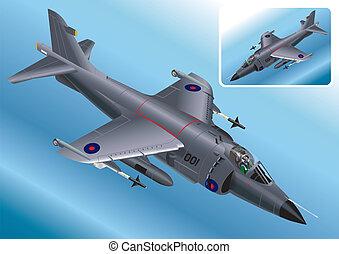 Isometric Sea Harrier Fighter Jet