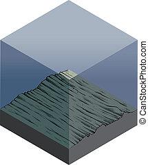 isometric, seafloor