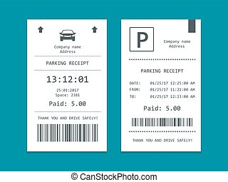 Isometric set of Parking tickets. Flat illustration icon for...