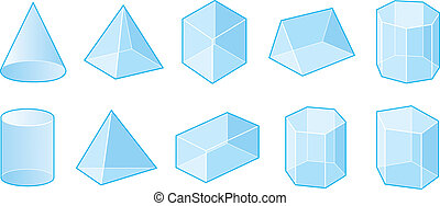 Isometric shapes - Set of vector shapes