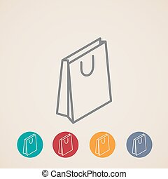 isometric shopping bag vector icons