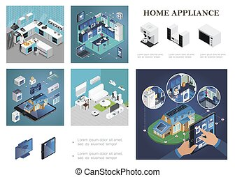 Isometric Smart Home Composition