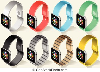 Isometric Smart Watch in Six Colors