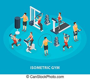 Isometric Sport And Healthy Lifestyle Concept