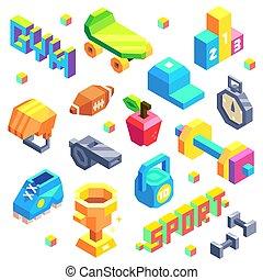Isometric Sport Icon Set