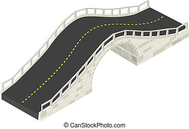 Isometric stone bridge - Isometric drawing of a stone bridge...