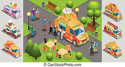 Isometric Street Food Template