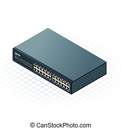 Isometric Switch Vector Illustrati - This image is a Switch ...