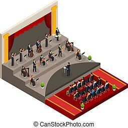 Isometric Symphony Orchestra Concept